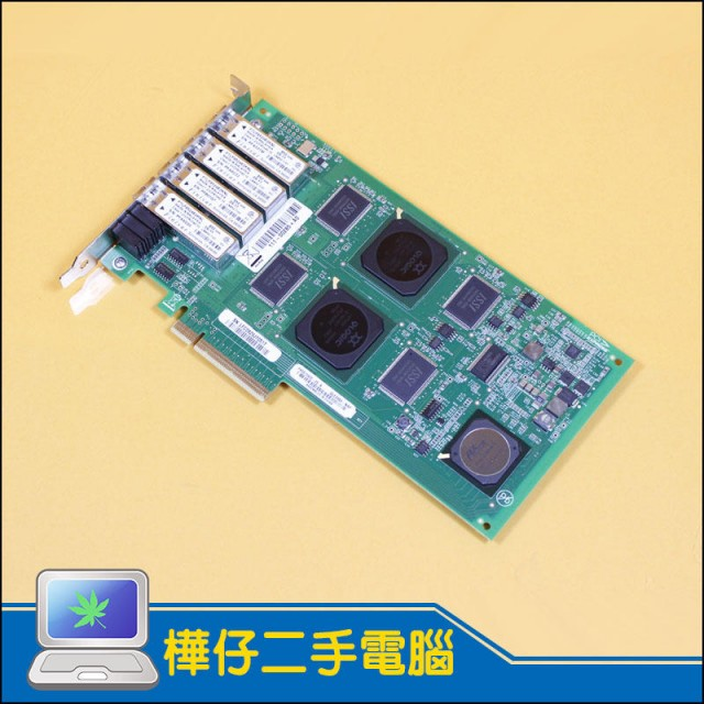 QLOGIC QLE2464-NAP 4GB PCI-e 四通道 HBA光纖卡 PX2610402-05