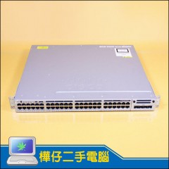 Cisco WS-C3850-48P-S 48 Port POE+ IP BASE  網路交換器